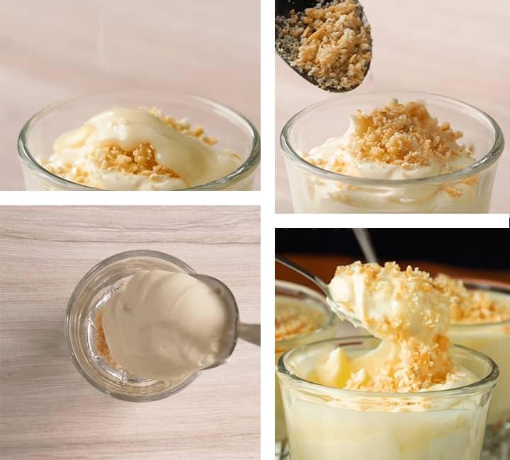 Resultado de mousse de leche condensada en vaso